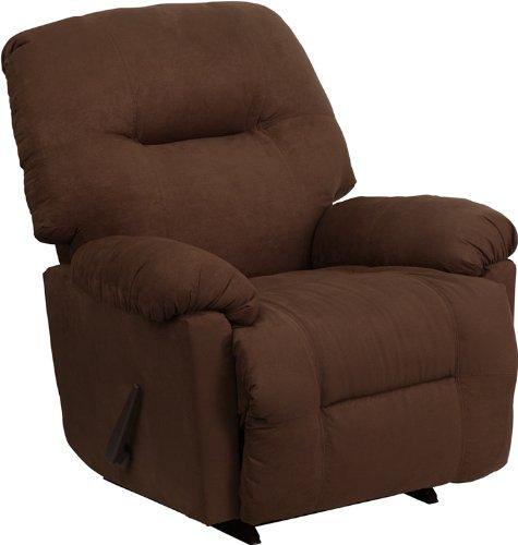 Flash Furniture AM-9350-2550-GG Contemporary Calcutta Microfiber Chaise Rocker Recliner, Chocolate Brown (Alabama Chocolate compare prices)