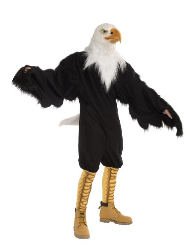 Forum Novelties Men's American Eagle Plush Mascot Costume and Latex Mask