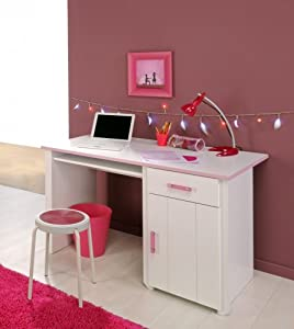 bureau blanc et rose pour chambre fille candy cuisine maison. Black Bedroom Furniture Sets. Home Design Ideas