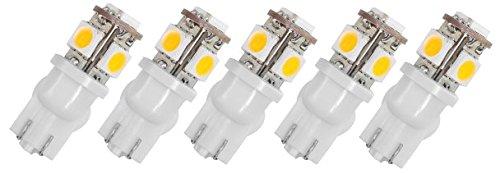 5 Pack - Led 912 Mini Wedge Proled 1W T5 12V 3000K Bulb Landscape