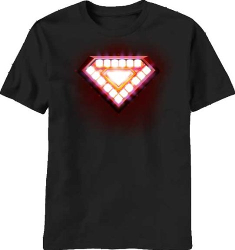 Marvel Comics Iron Man Classic Core Arc Reactor T-shirt (Black, )