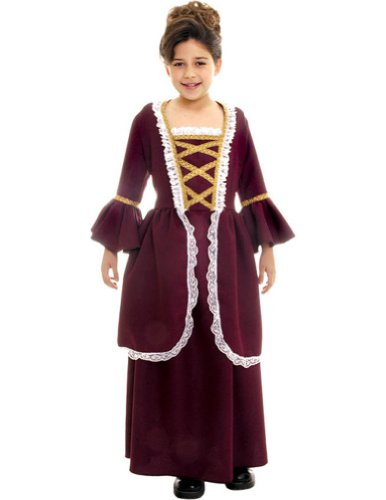 Colonial Girl Sm Kids Girls Costume