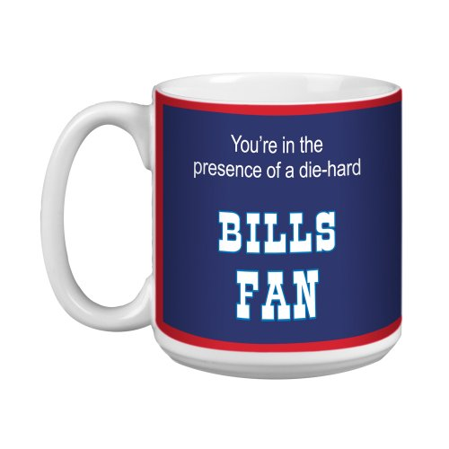 Tree-Free Greetings Xm28110 Bills Football Fan Artful Jumbo Mug, 20-Ounce