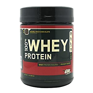 Optimum Nutrition 100% Whey Protein, Double Rich Chocolate, 1 Pound (Pack of 2)