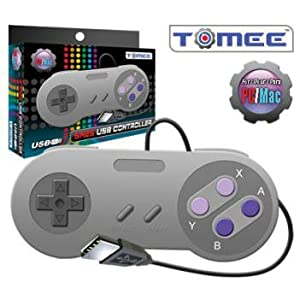 SNES Tomee USB Controller Eight-Way Directional Pad & Six Digital Buttons Works For PC & Mac