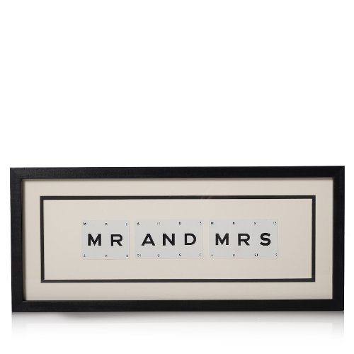 Belle Maison Mr  &  Mrs Vintage Playing Cards Picture Frame, Wedding