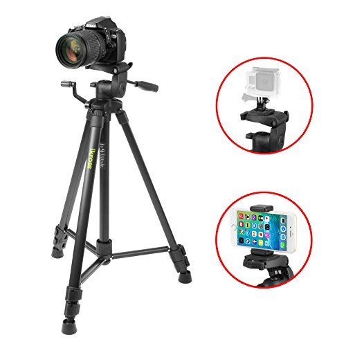 Tripod-iKross-61-inch-Professional-Light-Weight-DSLR-Tripod-with-Smartphone-Adapters-and-Carrying-Bag