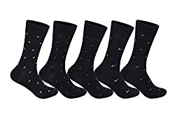 Supersox Mens Pack of 5 Regular Mercerised Cotton Socks