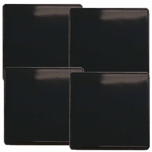 Reston Lloyd Gas Burner Covers, Set Of 4, Black
