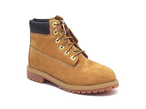 Timberland scarpe ragazzo, 12809-12709-12909, polacco boot in nabuk, colore miele