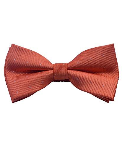 ORSKY Pre Tied Mens Bowtie for Party Wedding Tuxedo Orange Bow Tie Orange