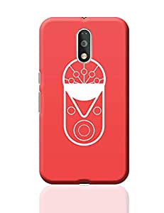 PosterGuy Moto G4 Plus Covers & Cases - Geometric bull with red background | Designed by: Designer Chennai
