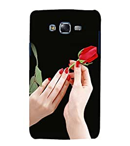 printtech Beautiful Rose Girl Back Case Cover for Samsung Galaxy A7 / Samsung Galaxy A7 A700F
