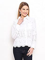 IVORY COTTON SCHIFFLI SHIRT