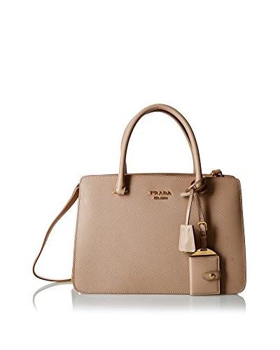 Prada Henkeltasche Handle Bag W Lock Aside grau