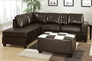 Astonishing 8 Chandler Bonded Leather Sectional Sofa With Console Pdpeps Interior Chair Design Pdpepsorg
