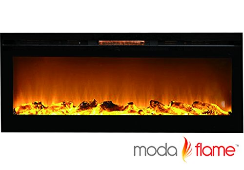 "Moda Heartthrob 50"" Cynergy Log Built-in Smokeless Wall Mounted Electric Fireplace"