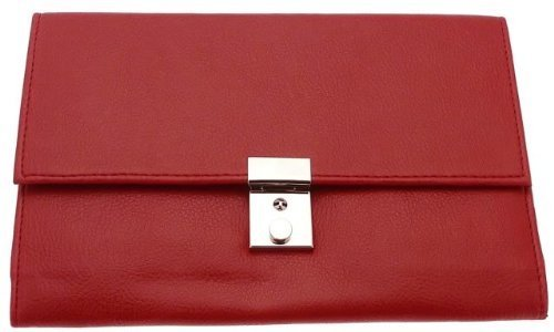 FABRETTI - Travel Document Holder Travel Wallet - Red - FB1004