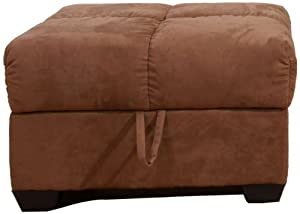 gold sparrow phila brown microsuede storage ottoman kitchen dining