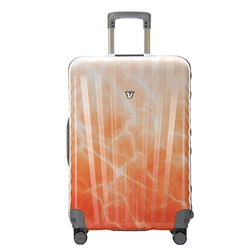 ◆100L◆RONCATO(ロンカート)ウノ スーツケース トロリー 4輪】UNO SL 5031 0212 オレンジホワイト並行輸入品