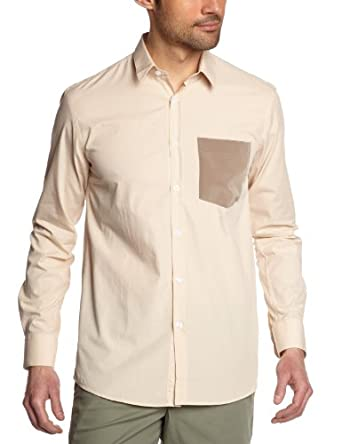 Gaspard Yurkievich - Chemise - Homme - Beige (Beige/Silk Taupe) - Small