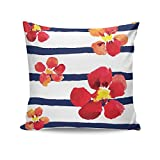 PosterGuy Spring Floral Stripes Stripes, Best, Vintage, Classy, Floral Cushion Cover