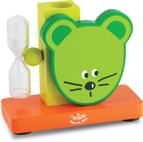 Vilac Toothbrush Holder, Green Mouse