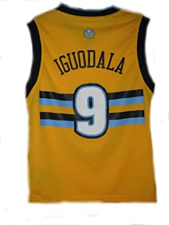 Andre Iguodala Denver Nuggets Yellow NBA Youth Revolution 30 Replica Jersey by adidas
