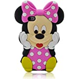 I Need 3d Cartoon Minnie Mouse Soft Silicon Case Cover Compatible for Apple Iphone 4/4g/4s(Hot Pink)