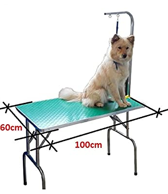 """150 kgPet Dog Grooming Table Portable Foldable Adjustable 31"""" W/ Arm Noose"""