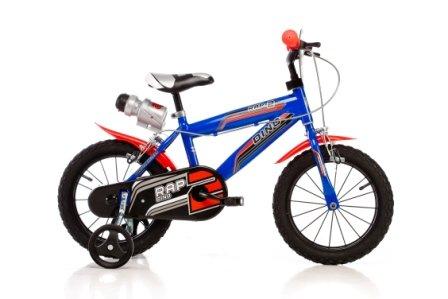 DINO SPORT BIKE 416U 16 pulgadas, Bicicleta de niño, Kidsbike , bicicleta, bicicleta del niño , la bici, velocípedo , bicicleta , ciclismo azul, estabilizadores, guardabarros, bidon • 16 pulgadas 4-7 años 105-135cm 47-55cm elevación del asiento