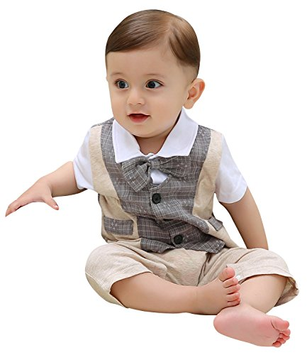 zoerea baby boys formal wear wedding suit jumpsuit outfit clothes 0 24 months apparel. Black Bedroom Furniture Sets. Home Design Ideas