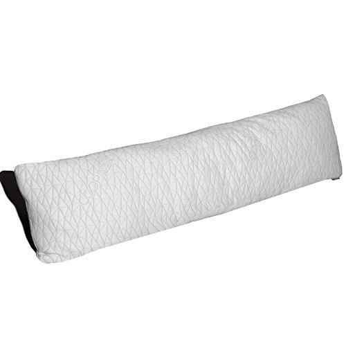 Coop Home Goods - 20x54-Inch Shredded Memory Foam Body Pillow with Bamboo Derived Viscose Rayon and Polyester Blend Cover