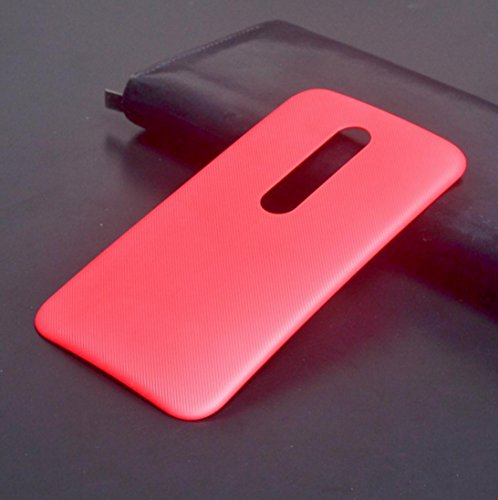 PES Replacement Battery Door Panel Housing Back Cover Case Shell for Motorola Moto G Turbo Edition - Red