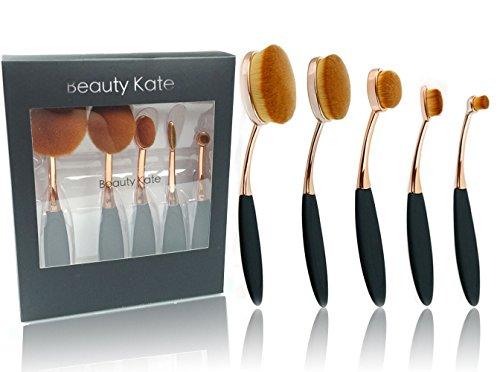 beautykate-5-pcs-oval-makeup-brushes-set-toothbrush-face-cosmetic-tool-cream-powder-blush-liquid-fou