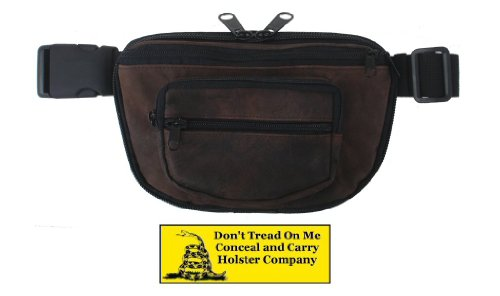 Concealed Carry Fanny Pack RUGGED ULTRA-SOFT SUEDE LEATHER-Brown from DON'T TREAD ON ME CONCEAL AND CARRY HOLSTERS