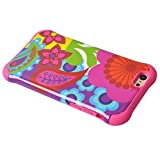 Iphone 6 Case, Meaci® Cell Phone Case for Iphone 6 (4.7 Inch) Case 2 in 1 Combo Hybrid Hard Pc & Rubber Case Dual Layer Bumper with Smooth Exquisite Abstract Painting Flower Pattern Protective Case - Pink Rubber