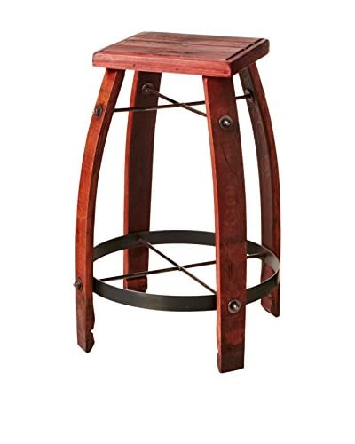 2 Day Designs Stave Stool, Red
