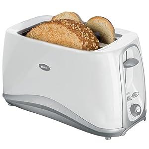 Oster 6382 Inspire 4-Slice Long Slot Toaster, White