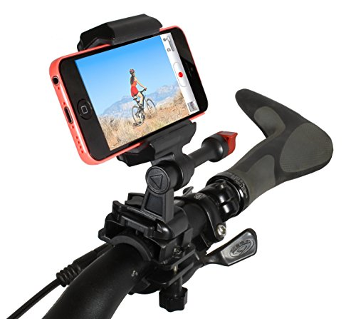 Bike Handlebar Mount iPhone 5 and 4 for Video GPS & Other Apps Fits All Handlebar Sizes and Phones (Iphone Gps App compare prices)