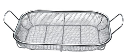 The Best Quality BBQ Mesh Grill Baskets, BBQ Roasting Pans, Combination Grill Smokers, Great For Grilling Seafood, Ribs, Steaks, Burgers, Chicken, And Veggies, Ez Clean, And Dishwasher Safe