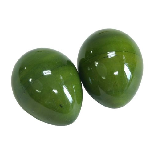 X8 Drums & Percussion Shak-Green Wooden Egg Shaker, Green