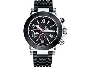 Guess I43002I1 - Reloj cronógrafo de cuarzo para mujer con correa de acero inoxidable, color negro
