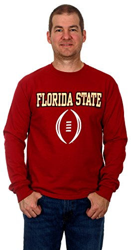 Florida State University Seminoles Men's Long Sleeve Cotton T-Shirt (Medium) (Central Florida Patch compare prices)