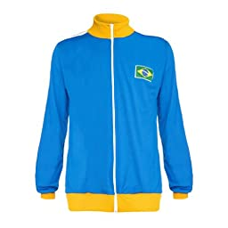 Jlsport Capoeira Blue Zipped Berimbau Jacket Brasil Tracksuit Jumper Man Long Sleeve