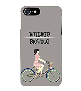 Fiobs Vintage Bicycle Phone Back Case Cover for Apple iPhone 7 Plus (5.5 Inches)