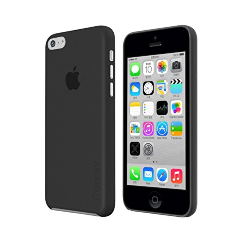 iphone-5c-case-black-colorant-colorshell-black-case-for-iphone-5c-extra-thin-screen-protector-includ