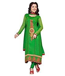Fadattire Women Georgette Dress Material (Acll03 _Green)