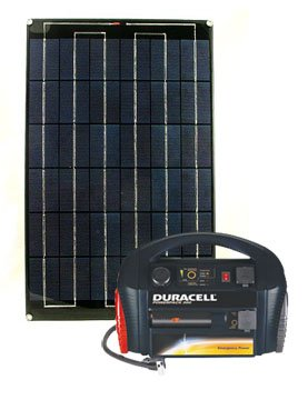 24 Watt Solar Energy System with Duracell 300 Powerpack