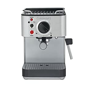 Cuisinart EM-100 1000-Watt 15-Bar Espresso Maker, Stainless Steel